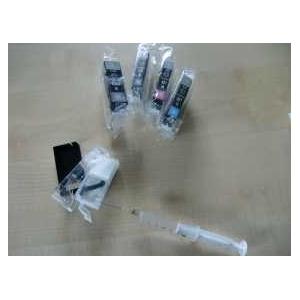 PGI 520, CLI521: 5 cartouches vides à remplir avec puces autoresett