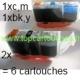 lot:2x PGI520bk,1x CLI521 BK,c,m,y soit 6 cartouches compatibles pour Canon PGI-520bk sans puce