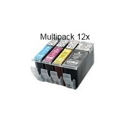 PGI520/CLI521 sans puce: Pack de 12 cartouches