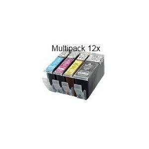 PGI520/CLI521 sans puce: Pack de 12 cartouches compatibles