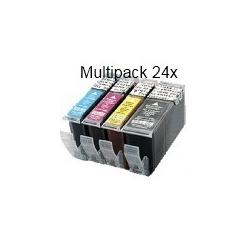 PGI520/CLI521 sans puce: Pack de 24 cartouches