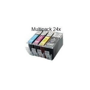 PGI520/CLI521 sans puce: Pack de 24 cartouches compatibles