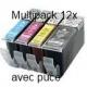 PGI520/CLI521 avec puce: Pack de 12 cartouches compatibles