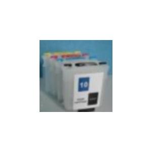 HP10+82: kit  de cartouches compatibles rechargeables vides avec puces autoreset