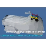 LC 980/1100: cartouches vides grande capacité rechargeables pour Brother
