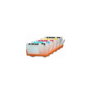 HP364: 5 cartouches vides rechargeables sans puce