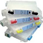 T055 série: 4 cartouches d'encre vides rechargeables avec puce auto-reset