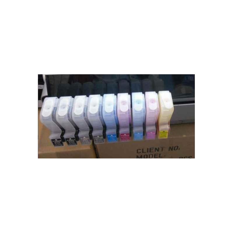 Pro3800/3880/3850: 9 cartouches rechargeables 280 mlsans puce pour Epson