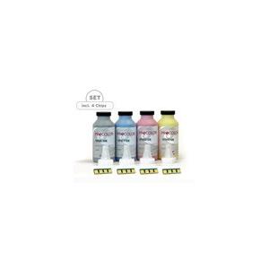 kit de recharge complet avec puces. 4 couleurs