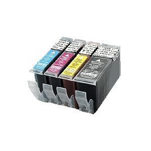 :PGI5/CL8:kit de 4 cartouches compatibles alimentaires pour Canon