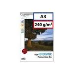 A3: papier photo 240g brillant. 75 feuilles