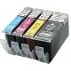 PGI5/CLI8:  kit de 5 cartouches compatibles alimentaires pour Canon