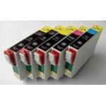 T0791 à 796: 6 cartouches d'encre rehargeables avec puces autoreset