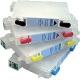 T1291 à 1294: 4 cartouches d'encre vides rechargeables avec puce auto-reset