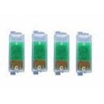 4x puces autoresett pour Epson T0711 à714. Set complet