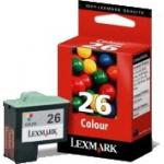 Cartouche d'origine Lexmark Nr.26 3 couleurs