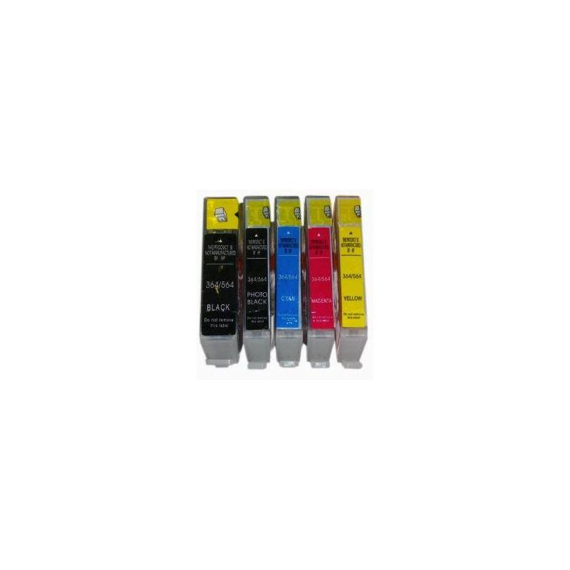 HP 364c, m ou y au choix: cartouche compatible sans puce