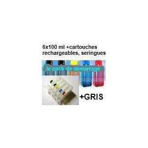 Pack PGI525/526 encres + 6 cartouches rechargeables avec puces autoreset