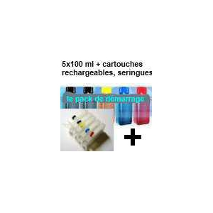 Pack PGI520/521 + 5 cartouches rechargeables avec puces autoreset