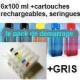 Pack PGI520/521 encres + 6 cartouches rechargeables avec puces autoreset