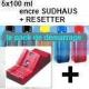 Pack PGI525/CLI526:Resetter + 5x100ml encre SUDHAUS