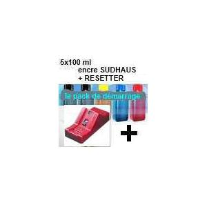 Pack PGI520/CLI521:Resetter + 5x100ml encre SUDHAUS