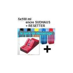 Pack PGI5/CLI8:Resetter + 5 100ml encre SUDHAUS