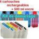 Pack T0891à894 plus 5x100 ml encre pigmenté