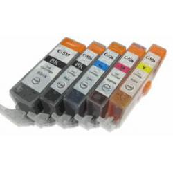 PGI525/526: 5Cartouches compatibles sans puce pour Canon