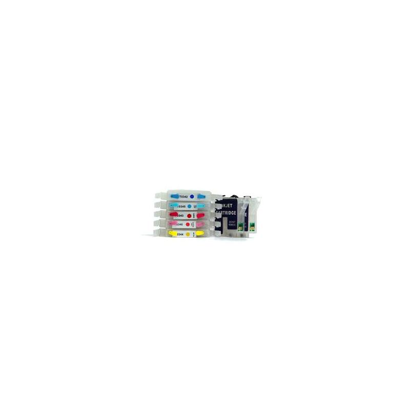 TO331 à 336: 7 cartouches vides rechargeables avec puce autoreset