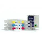 TO321 + T0422 à 424: 4 cartouches vides rechargeables avec puce autoreset