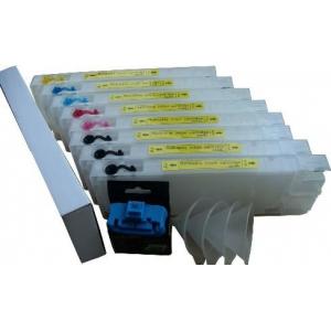 T5441-5448: 8 cartouches d'encre vides rechargeables avec puces à resetter