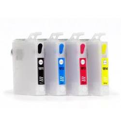 T1801-1804: cartouches rechargeables avec puces autoreset
