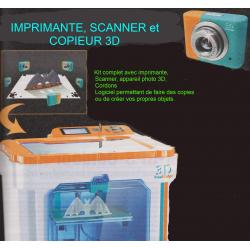 IMPRIMANTE 3D avec scanner, logiciel
