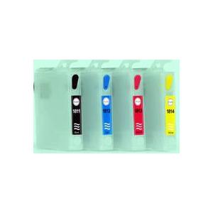 T18: 4 cartouches recharchargeables avec puces permanentes
