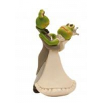 Figurine 13 cm mariage couple grenouille