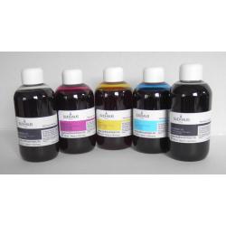 HP PREMIUM: 4X100 ml encre SUDHAUS avec noir pigmenté