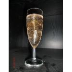 Flute de champagne (en verre) bougie transparente