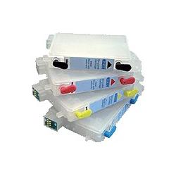 T044 série: 4 cartouches d'encre vides rechargeables avec puce auto-reset