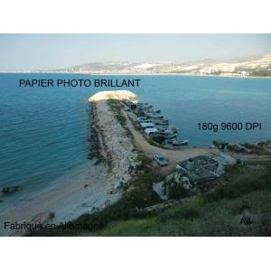 Papier photo brillant 100 feuilles A4, 180g, 9600dpi