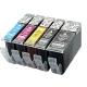 PGI5/CLI8:4 cartouches compatibles alimentaire pour Canon avec puce