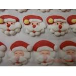 Père Noël tête env. 2.5 cm en sucre par 225