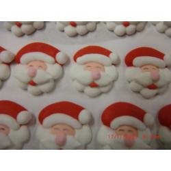 Père Noël tête env. 2.5 cm en sucre par 15