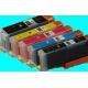 PGI 570/CLI 571XL: pack de 5 cartouches pleines compatibles avec puces
