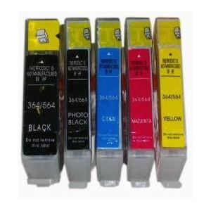 HP 364xl  bk grosse, c, m ou y au choix: cartouche compatible AVEC puce