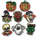 100 pièces personnages halloween en masse de sucre