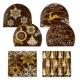 Embouts de bûche en chocolat noir (par 24)