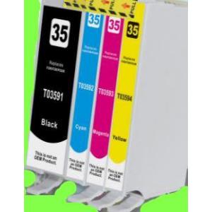 T03591 à 3594: 4 cartouches compatibles pour WF4720 à 4740