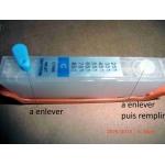 CLI 571: 1 cartouche GRIS rechargeable avec puce autoreset