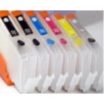 PGI550/CLI551: Kit de 6 cartouches vides rechargeables AVEC PUCES AUTORESET